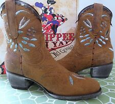 OLD GRINGO Yippee Kay Yay Nozama Embroidered Western Ankle Boot Size 7 M