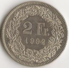 Suisse, 2 Francs, 1992-B, KM21A.3, cuivre-Nickel