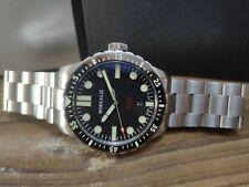 Borealis Cascais Black Pencil Hands C3 X1 Swiss Automatic Diver Watch Date