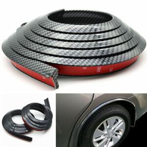 2Pcs 1.5m Carbon Fiber Car Fender Flare Wheel Eyebrow Protector Arch Trim Strip