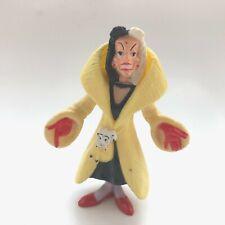 """Disney 101 Dalmatians Cruella De Vil 4"""" Tall Plastic Action Figure"""