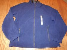 Nwt Mens Free Country Microtech Fleece Jacket Full Zip Up Pacific Blue Medium M