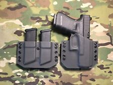 Armor Gray Kydex Glock 19/23/32 Holster w/Mag Carrier