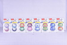 2 Pack Playetx Baby Binky Classic Silicone Pacifiers, 0-6 Months - Choose Color