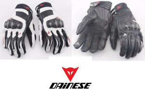 Dainese Carbon Fiber Leather Gloves - Touchscreen - Carbon Frame
