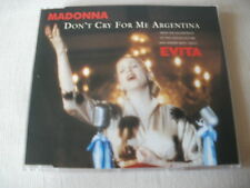 MADONNA - DON'T CRY FOR ME ARGENTINA - UK CD SINGLE