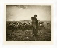 """""""J.F. MILLET : La Bergère"""" Phototypie originale BRAUN CLEMENT & Cie 1890"""