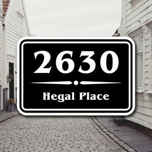 Custom Street Address Aluminum Sign / Plaque - Multiple Colors & Sizes