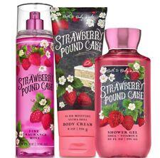 Bath & Body Works Strawberry Pound Cake Trilogy Set