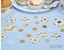 BLUE & GOLD BABY SHOWER TABLE CONFETTI - Baby Shower / Party Decoration