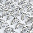2 stk Damen Ringe Strass Fingerringe Verlobungsring Trauringe Hochzeitsringe