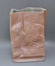 Rosenthal - große Tütenvase in braun - Design Tapio Wirkkala 28 cm