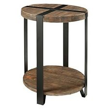 Alaterre  Modesto 20India. Reclaimed Wood Round End Table, Rustic Natural NEW