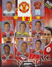 FC MANCHESTER UNITED PANINI 2006- EMPTY ALBUM AND COMPLETE STICKER SET 1-195,A-U