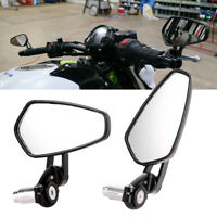 2Pcs 7/8'' Manillar Motocicleta Extremo Lateral Moto Espejo Retrovisor Universal