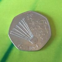 Badminton LONDON 2012 OLYMPIC GAMES FIFTY 50P PENCE COIN DATED 2011