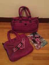 Lululemon NWOT Bon Voyage Duffel + GUC Fast In Flight Tote Bag SET - Dewberry