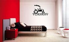 BOYS TRACTOR PERSONALIZED NAME VINYL WALL  QUOTE LETTERING DECAL HOME DECOR