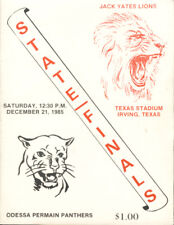1985 Odessa Permian vs Yates HS State Finals Program