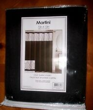 "FAUX SILK SHOWER CURTAIN WITH DECORATIVE EMBROIDERY SIZE 72""X 72"" NEW"