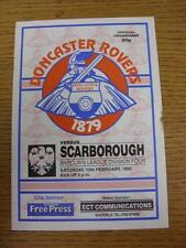 10/02/1990 Doncaster Rovers v Scarborough  (Small Dirty Mark On Edge)