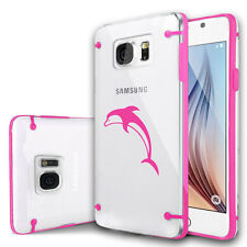 For Samsung Galaxy S7 S5 S6 Edge Note Clear Hard TPU Case Cover Dolphin