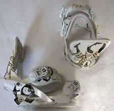 TECHNINE T9 SNOWBOARD BINDINGS - MEDIUM - WHITE, GOLD