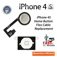 NEW WHITE Home Button with Flex Cable Replacement Repair FOR iPhone 4S (A1387)