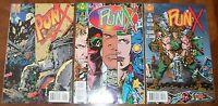 PUNX Valiant Acclaim Comics 1 2 3 Kieth Griffen 1995 RARE