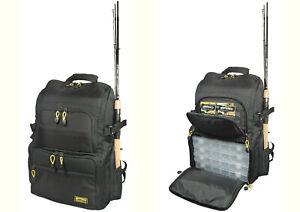 Spro Backpack Rucksack incl. 4 Tackle Boxen Anglerrucksack Tasche Angelrucksack