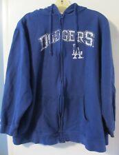 Majestic LA Dodgers Lightweight Hooded Sweatshirt Hoodie Full Zip Men's 2XL
