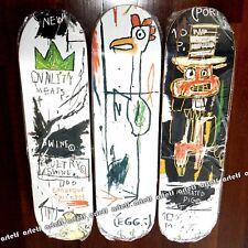 JEAN-MICHEL BASQUIAT Crown Quality Meats Skateboard Deck Art Skate Set NEW