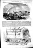 Old Antique Print 1851 Philanthropic Farm Redhill School Indigent Blind 19th