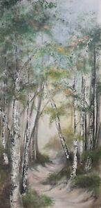Valerie Beales artwork , landscape, woodland  Painting, acrylic