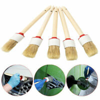 6Pcs Car Wash Brush Gap Interior Cleaning Handle Dash Seat Supply Wood for Wheel