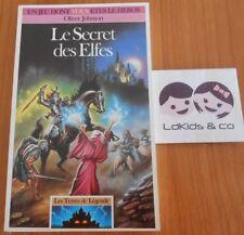 Livre LDVELH LES TERRES DE LEGENDE Le secret des Elfes / 3 -EO 1989 FOLIO JUNIOR