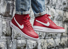 NIKE AIR FORCE 1 HIGH'07 Stivali Scarpe Da Ginnastica Hi Tops AF1-UK 9.5 (EU 44.5) GYM RED