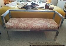 Vintage Stylish Chrome And Brass 1970'S Bench