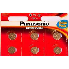 6 Panasonic Cr 2032 3volt Litio Powered moneda baterías