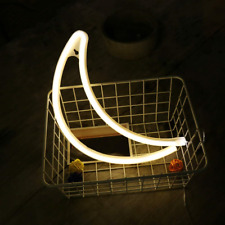 Mygoto Moon Neon Light Signs Free Wall Hooks. Extra Long. Novelty Neon Sign Led