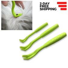 Tick Remover Tools for Pets Dog Cat Humans Safe Removal 3 Sizes Plastic Hook