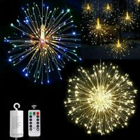 Hanging Firework LED Fairy String Light Remote 8Modes Party Xmas Decor Lighting