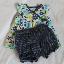 Carters baby toddler girl 18 months 2 piece outfit blue floral top and shorts