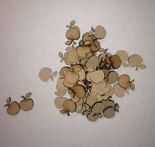 50x Wooden 3 Mm Mdf Mini Apples Craft Shape Card Making Blank Laser Cut