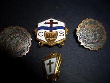Lot 4 OLD VINTAGE  Methodist religious pins;CS; LITTLE CROSS & CROWN SYSTEM