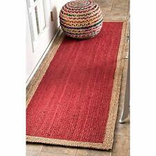 Jute Reversible Decorative Handmade Indian Runner Floor Carpet Braided Home Rugs