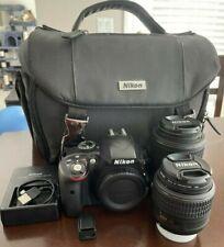 Nikon D3300 24.2MP Digital SLR Camera - Gently Used - BIG BUNDLE!