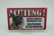 DEUTSCHER SCHÄFERHUND - Tierwarnschild - VORSICHT Warnschild 20x12 cm Schild 20