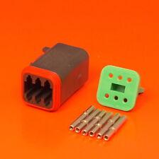 Deutsch DT Series 6 Way Plug Connector Kit DT06-6S-CE06 + Pins & Wedglock