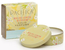 Pacifica Solid Perfume Tin 100% Vegan All Natural Scent MALIBU LEMON BLOSSOM 10g